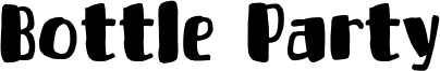 Bottle Party Font