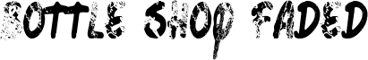 Bottle Shop Faded Font