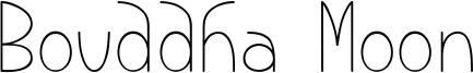 Bouddha Moon Font