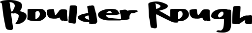 Boulder Rough Font