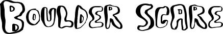 Boulder Scare Font