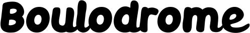 Boulodrome Font