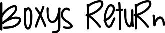 Boxys Return Font