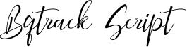 Bqtrack Script Font