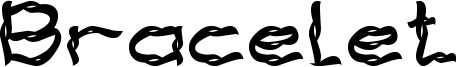 Bracelet Font