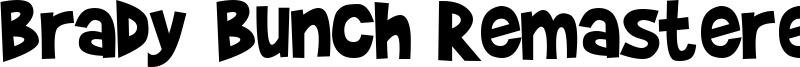 Brady Bunch Remastered Font