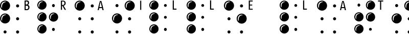 Braille Latin Font