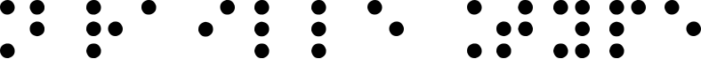 Braille Type Font