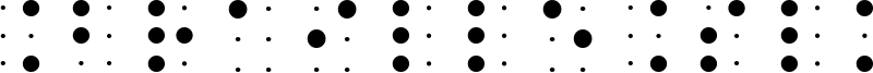 BrailleSlo 6Dot Font