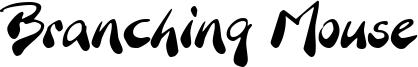 Branching Mouse Font