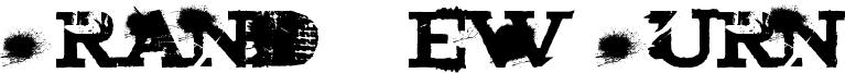 Brand New Burn Font
