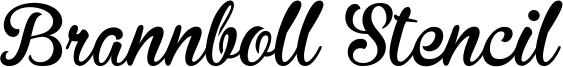 Brannboll Stencil Font