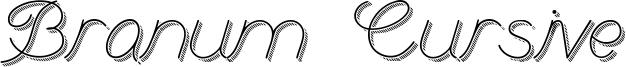 Branum Cursive Font