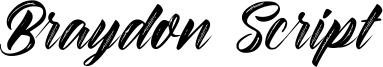 Braydon Script Font