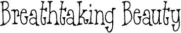 Breathtaking Beauty Font