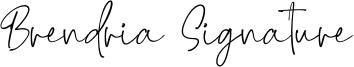 Brendria Signature Font