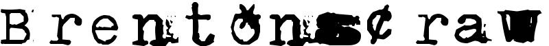 BrentonscrawlType Font