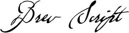 Brev Script Font