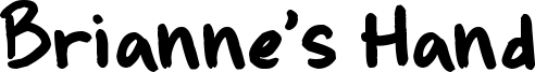 Brianne's Hand Font
