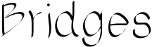 Bridges Font