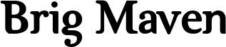 Brig Maven Font