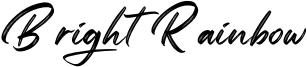Bright Rainbow Font