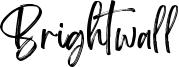 Brightwall Font