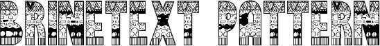 Brinetext Pattern Font
