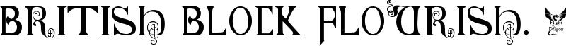 British Block Flourish, 10th c. Font