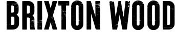 Brixton Wood Font