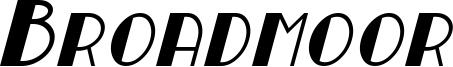 Broadmoor Italic.otf