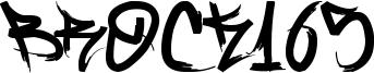 Brock165 Font