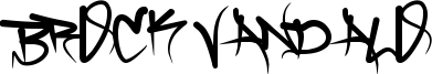 Brock Vandalo Font