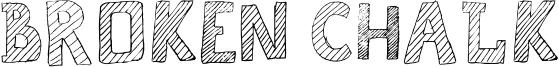 Broken Chalk Font