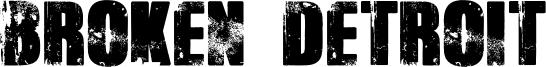 Broken Detroit Font