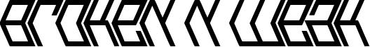 Broken n Weak Font