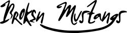 Broken Mustangs Font