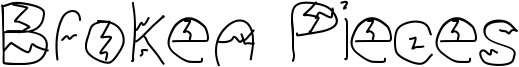 Broken Pieces Font