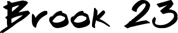 Brook 23 Font
