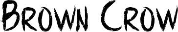 Brown Crow Font