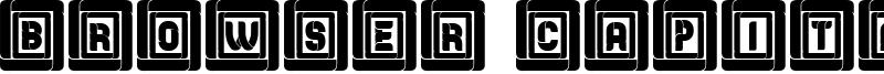 Browser Capitals Font