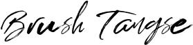 Brush Tangse Font