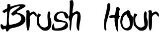 Brush Hour Font