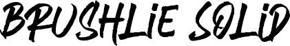 Brushlie Solid Font