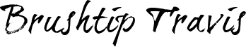Brushtip Travis Font