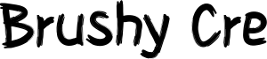 Brushy Cre Font