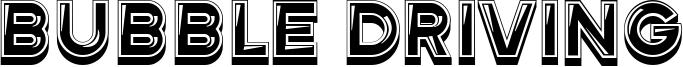 Bubble Driving Font