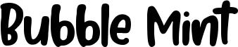 Bubble Mint Font