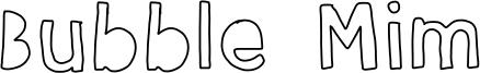Bubble Mim Font