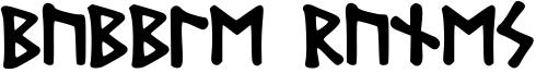 Bubble Runes Font